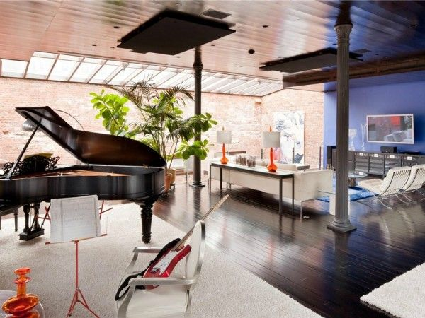 Renovated tribeca loft now features a mix of classic and modern elements casual living rooms lofts and mansion