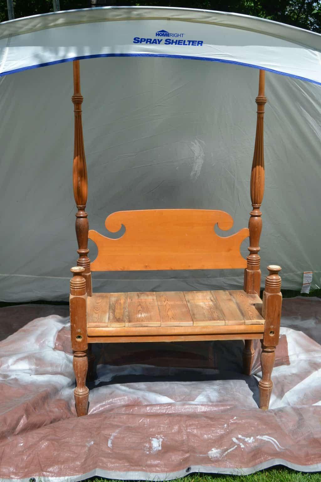 DIY Entryway Bench Homemade Bed frame bench, Diy bed