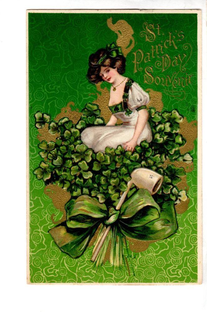 US2097 Postcard John Winsch Samuel L Schmucker St Patrick's Day embossed