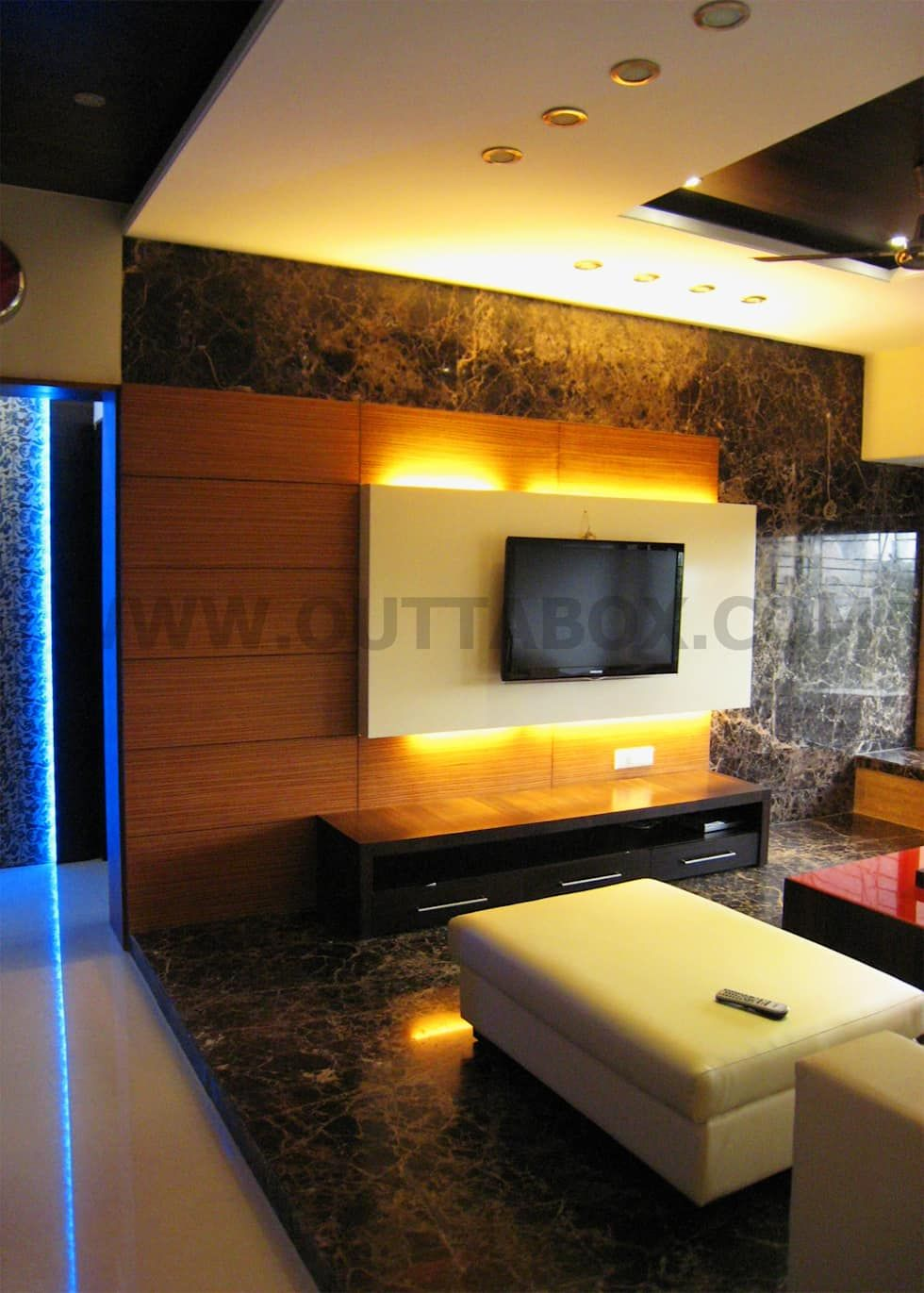 Living Room Design With Led Tv: Residential Project Modern Living Room By Outtabox Modern