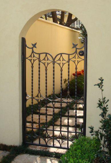 Mizner Type Mediterranean Wrought Iron Gate Potter Art Metal