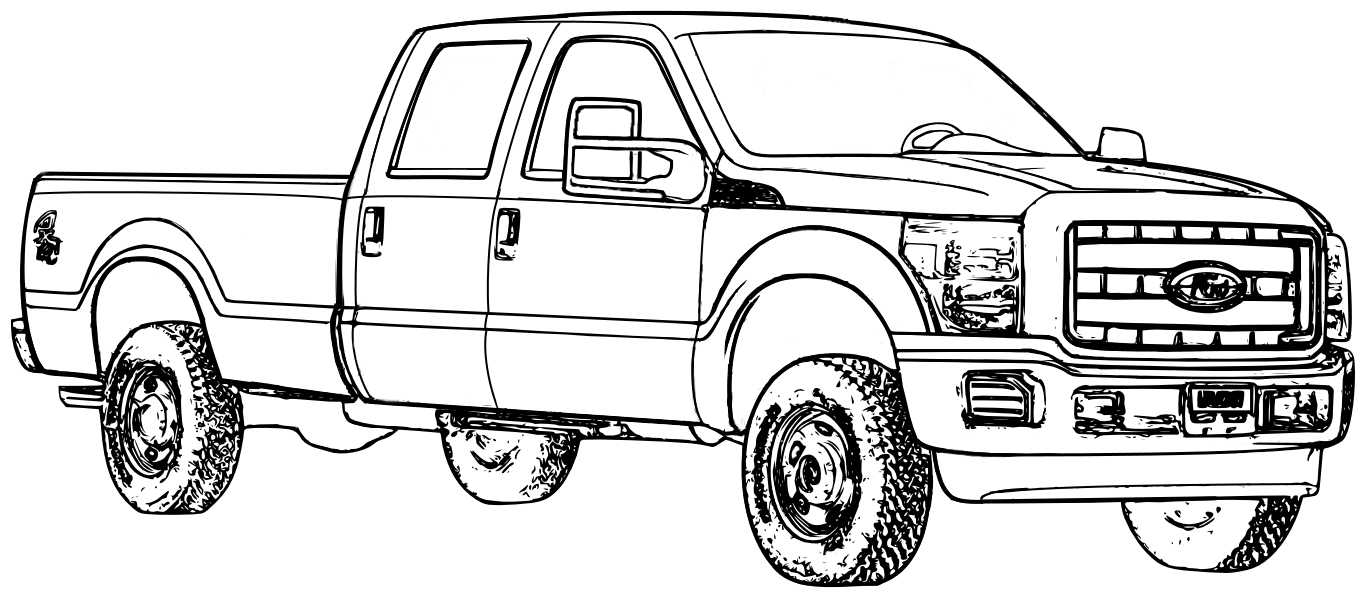 Coloring pictures of cars truck tractors - Ford Truck Coloring Pages 01
