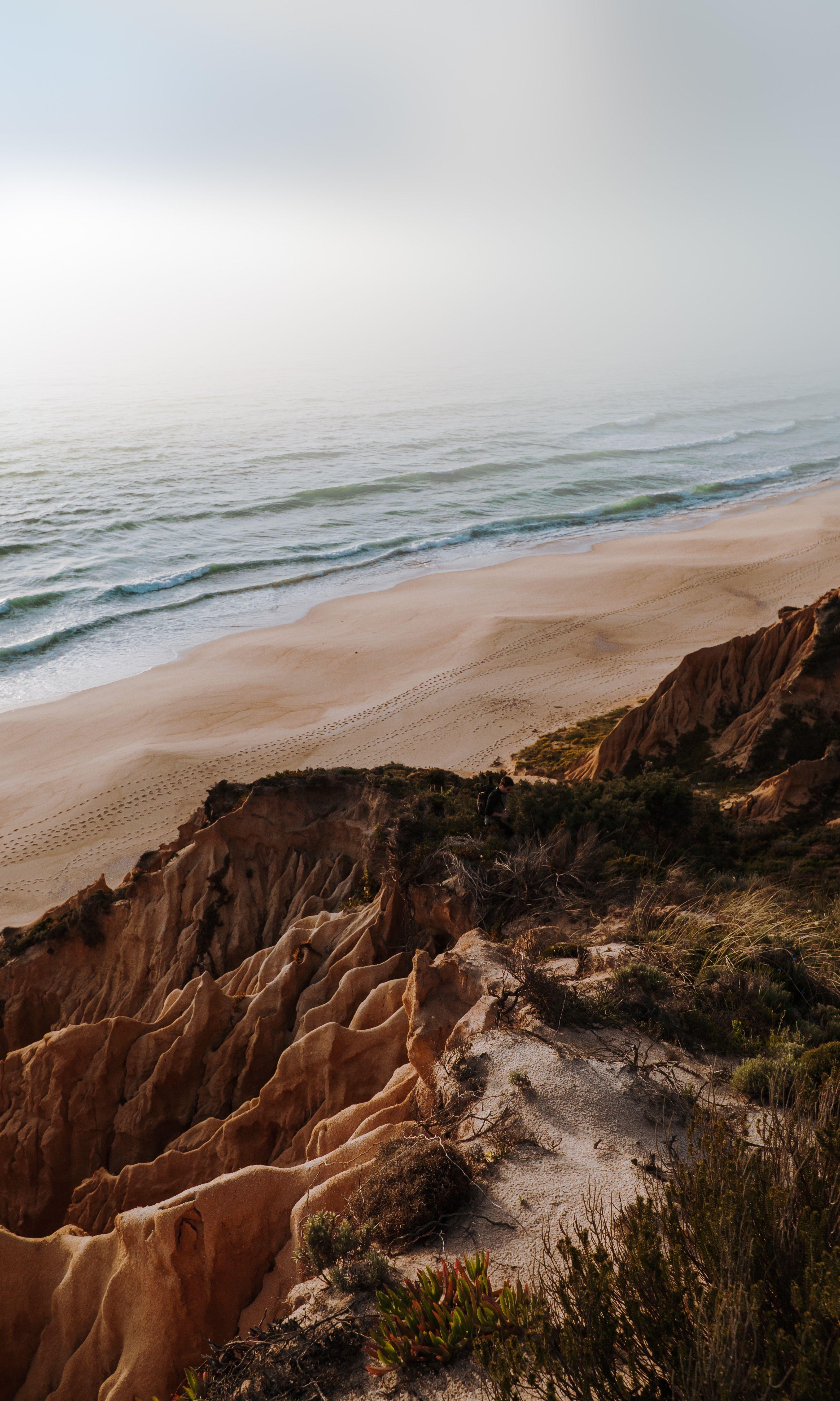 Beautiful shore. Beautiful ocean views. Minimalist Calm