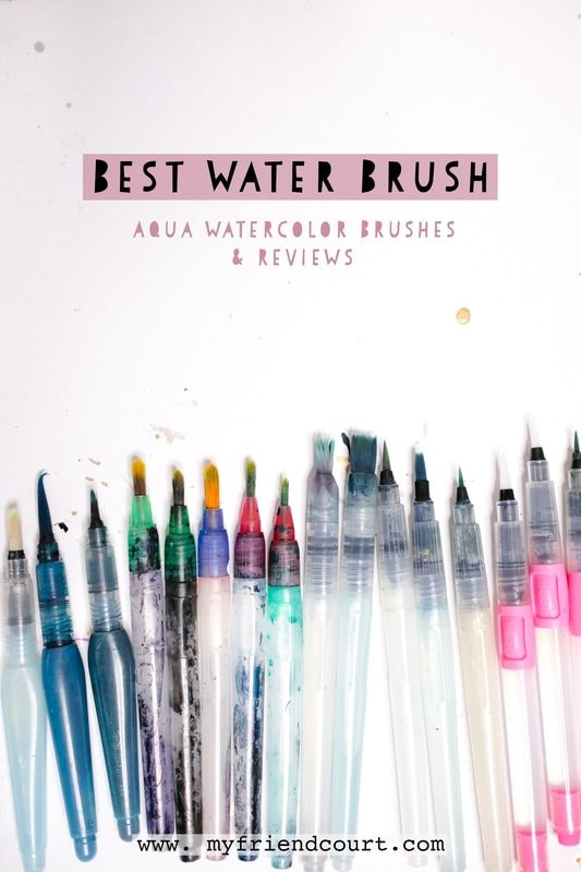 The Best Water Brush Aqua Watercolor Brushes And Reviews On