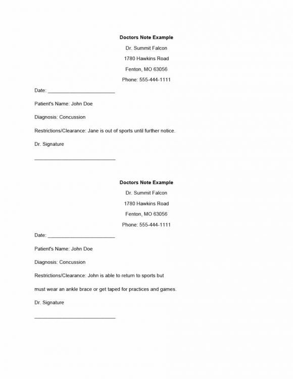 doctors note template 05 | Skin care | Doctors note template