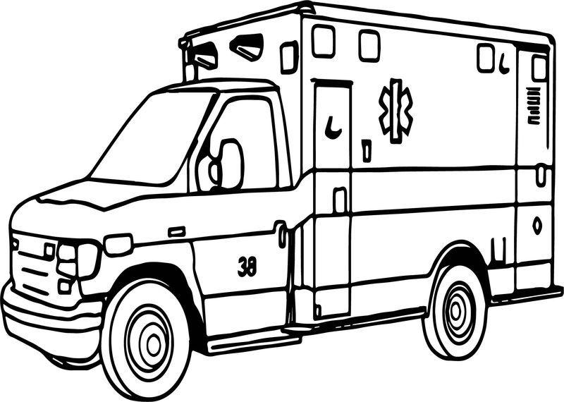 Important Ambulance Coloring Page Gambar
