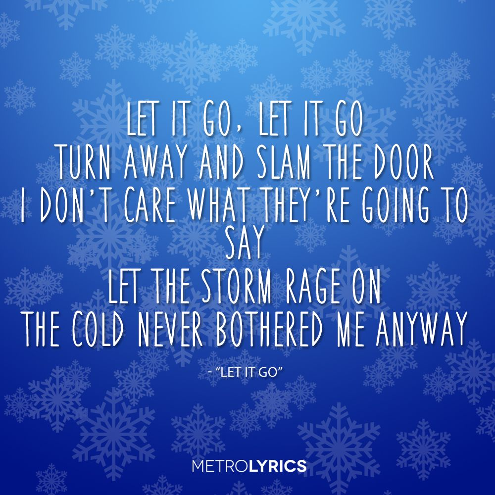 idina menzel frozen let it go lyrics - photo #23