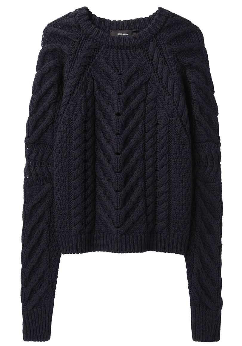 Isabel Marant / Vichy Sweater Chunky, cable knit sweater with crew ...