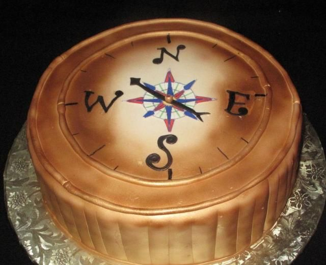 Compass Cake Food Pinterest Compass Cake and Cup cakes