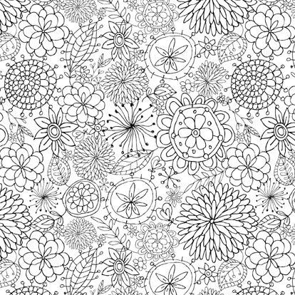 doodle flowers | Likely Story | Pinterest | Mandalas, Colorear y Pintar