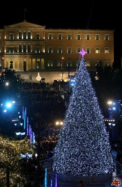 syntagma square during christmas athens greece - Greek Christmas Decorations