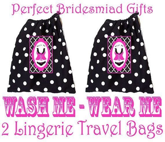 Lingerie Bags 2 Pack Travel Accessories Wash Me by UrbanCreative