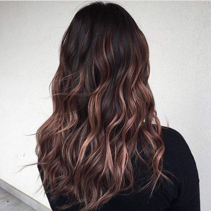 Image Result For Rose Gold Balayage Brown Hair Hair