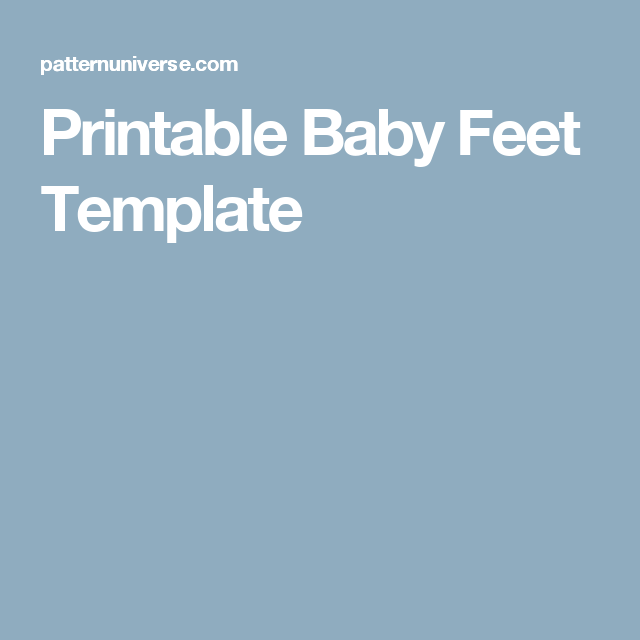 printable baby feet template quilts pinterest baby foot