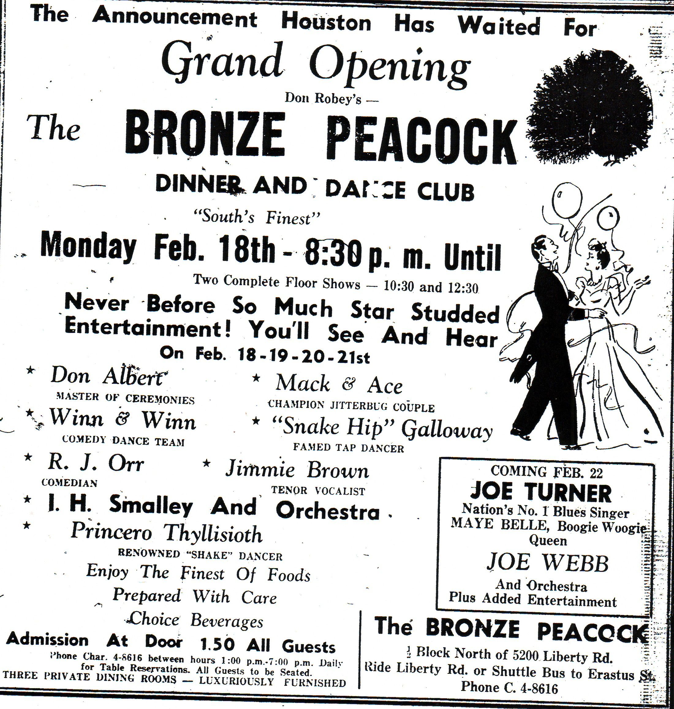 The Bronze Peacock in Houston: $1.50 for Joe Turner and Big Maybelle???? I  need to time travel. | Floor show, Blues, Rock music