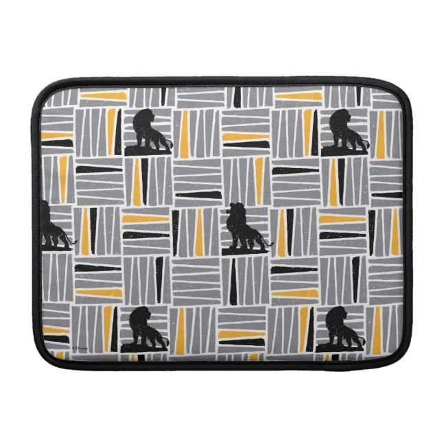 Lion King | Simba Gray & Gold Hatched Pattern MacBook Air Sleeve | Zazzle.com