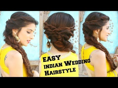 Wedding Hairstyle For Medium To Long Hair Fishtail Braid Hairstyle For Indian Wedding Occassions You Long Hair Styles Hair Styles Fishtail Braid Hairstyles