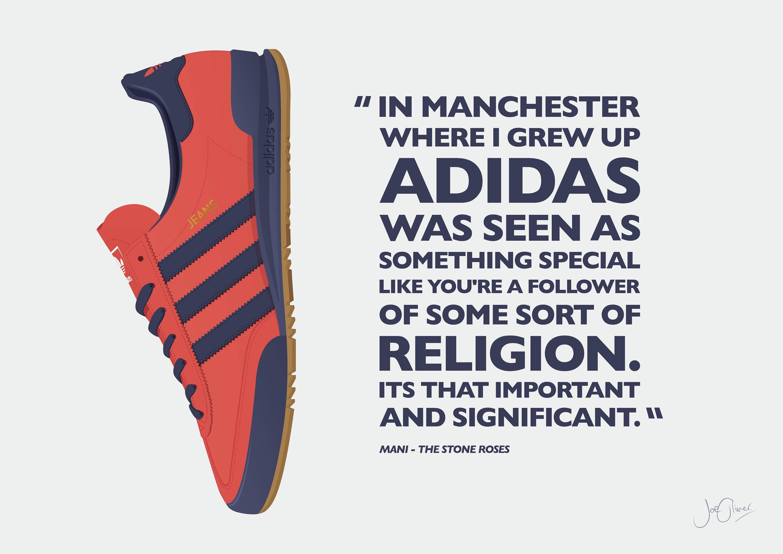 Adidas Originals Jeans Mk2 Illustrated Poster Print A6 A5 A4 A3