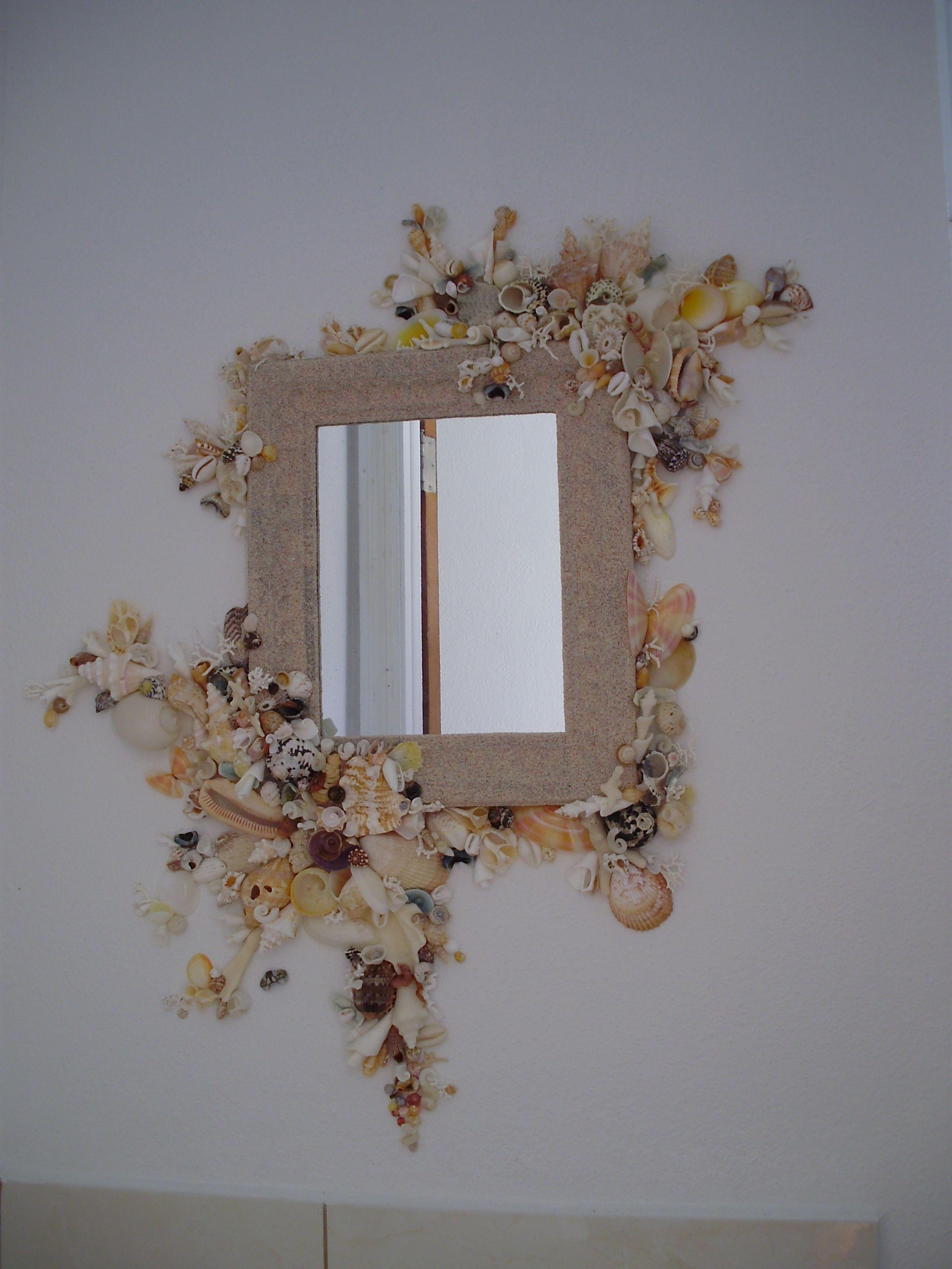 Sand and shell mirror. | seashells diy | Pinterest | Conchas, Rosca ...