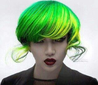 Unnatural side - green yellow hair & eyes ;)
