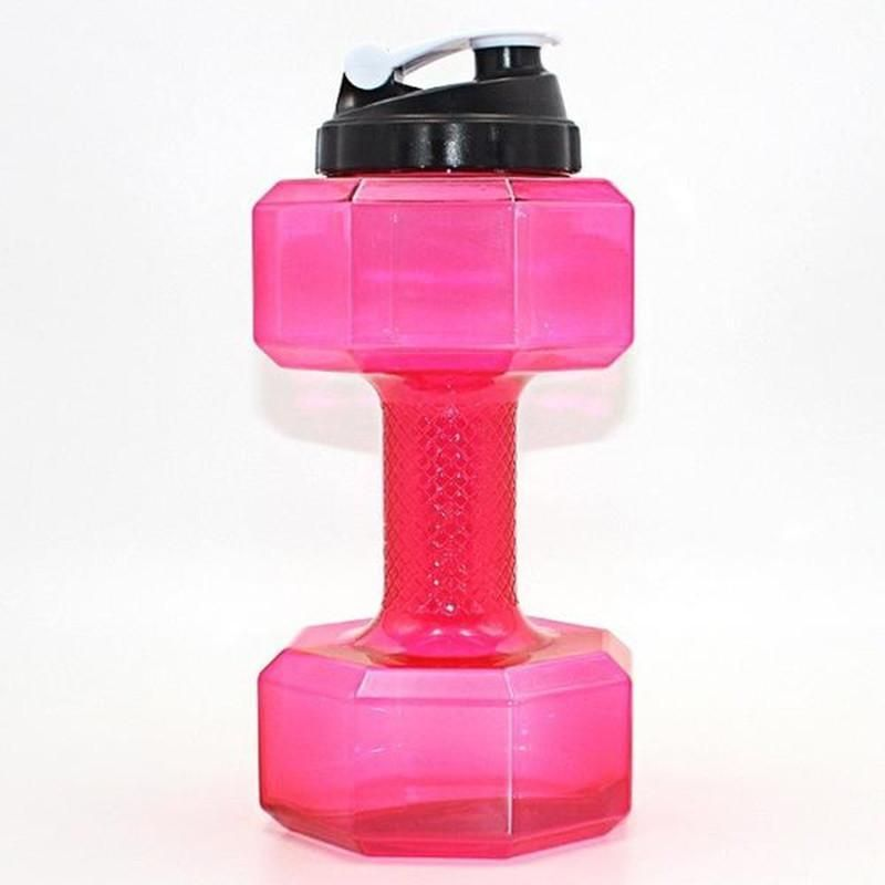 2.5L Big Volume Dumbbells Shaped Water Bottle BPA Free Sports Running Gym