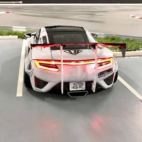 Tamiya Nsx 2016 Body With A Rocket Bunny Rx7 Kit Attached Build By