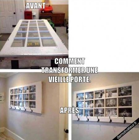transformer une vieille porte id es en pagaille. Black Bedroom Furniture Sets. Home Design Ideas