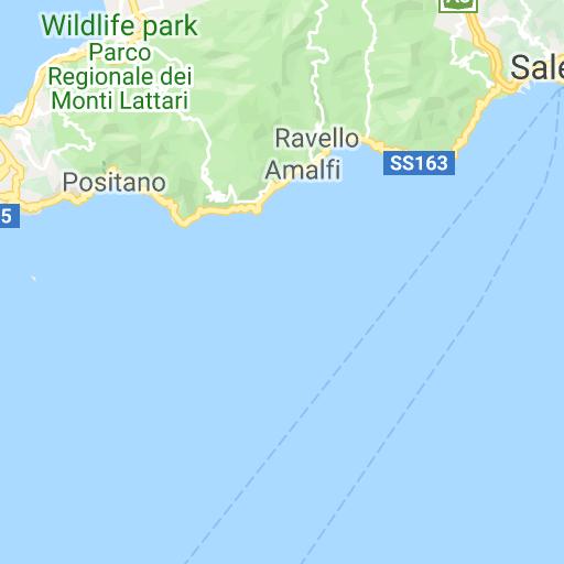 Sorrento Capri Amalfi Coast Map Travel Map For Sorrento