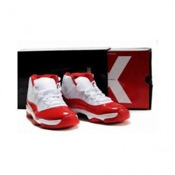 cheap for discount 86163 d0d8d Cheap Nike Air Jordan 11 Retro (White Red) on sale michael jordan jumpman  23 basketball shoes for cheap