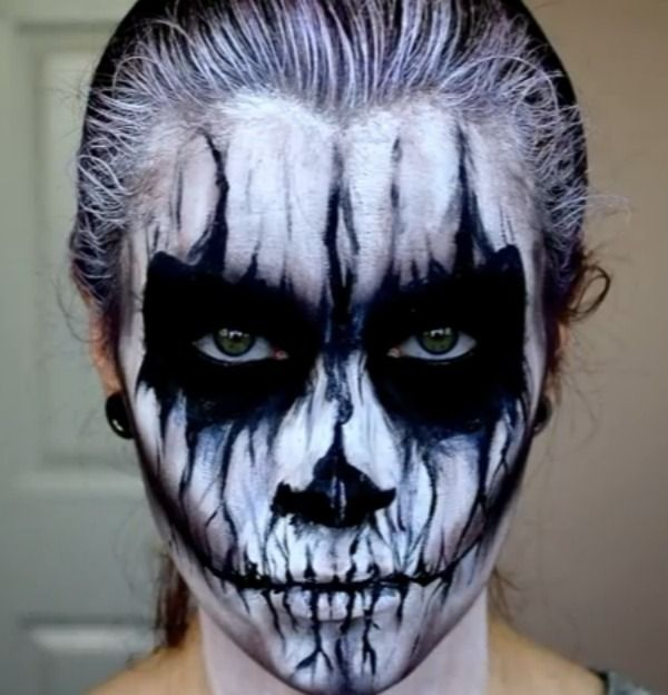 okidoki face painting blog skull face painting ideas httpwww - Halloween Skull Face Paint Ideas