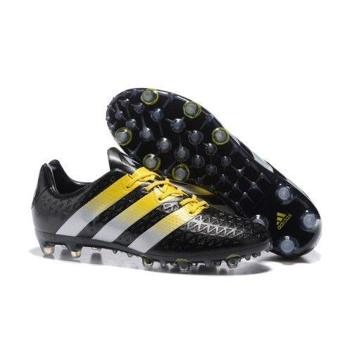 buy popular eeb77 d2d74 Adidas ACE 16.1 FG AG Mens Soccer Cleats Black Yellow White