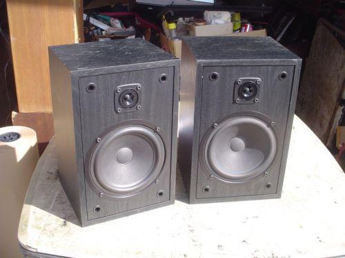 Cerwin Vega L 7 Midsize Black Bookshelf 2 Way Bass Reflex Stereo Speakers
