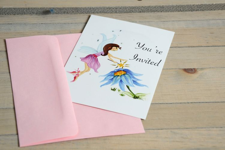 fairy invitations | enchanted fairies party | Jade Celebrations | party boxes | party in a box