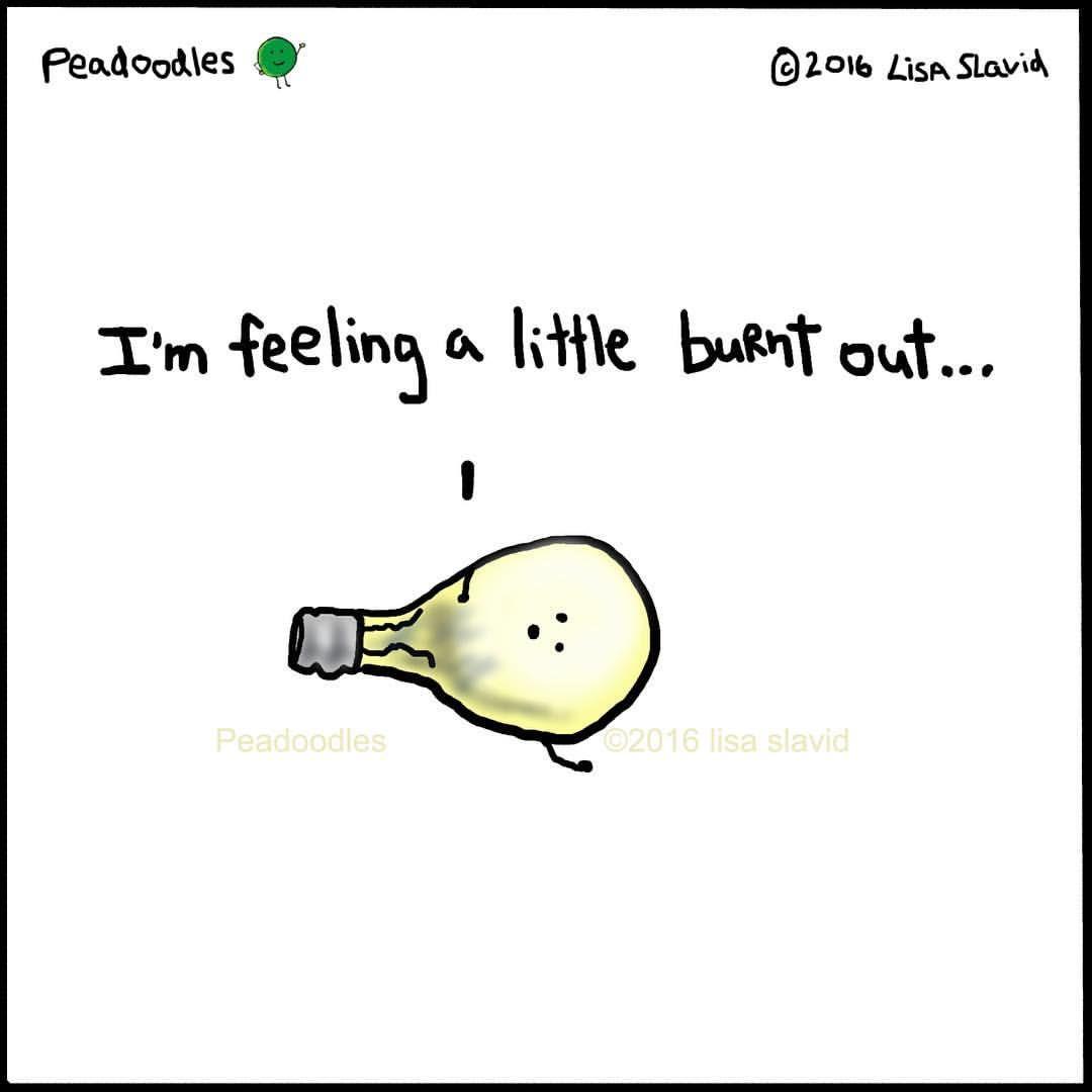 Peaodoodles Pun Playonwords Punny Burntout Lightbulb