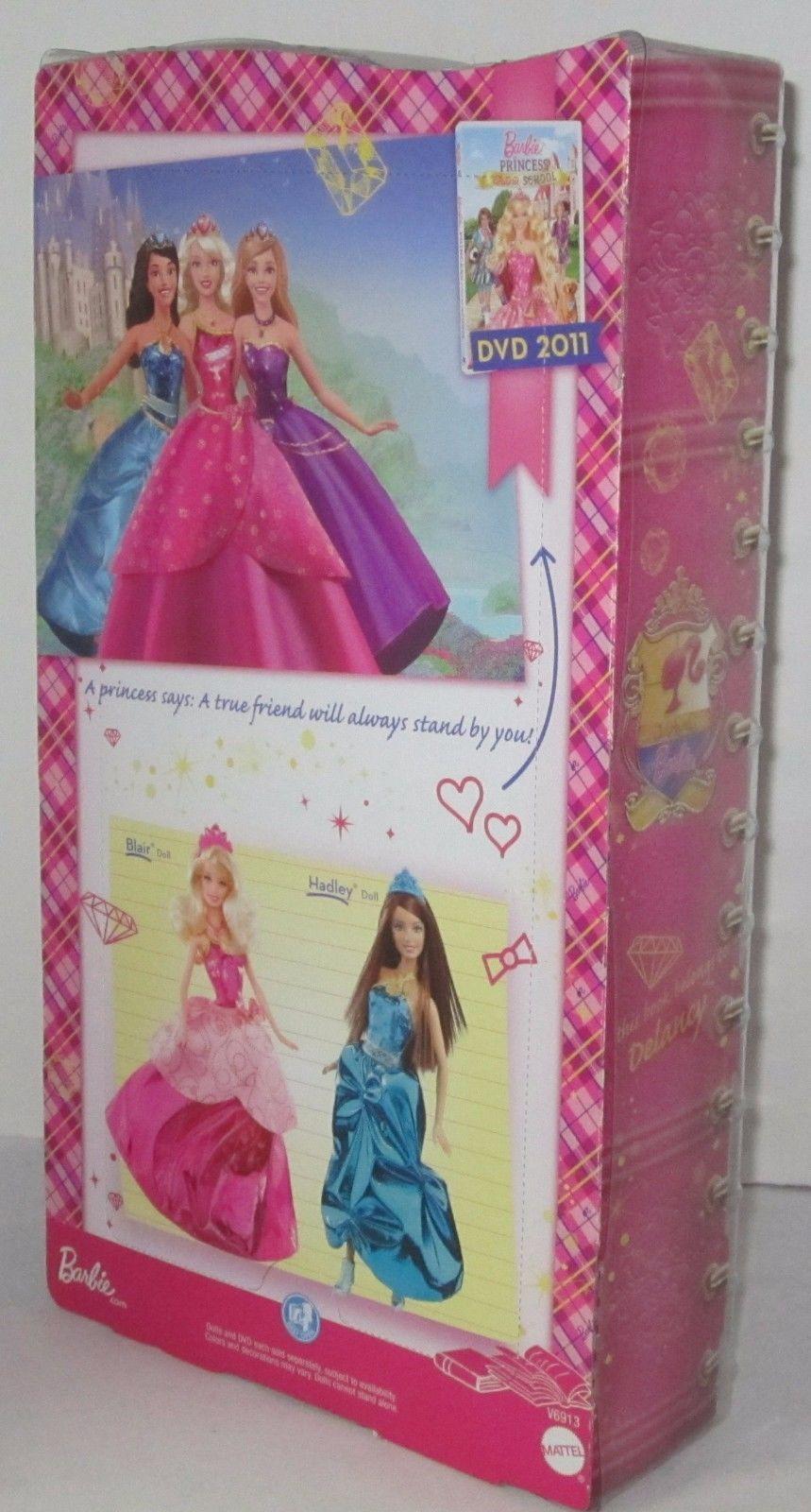2011 Barbie Princess Charm School: School Girl Schoolgirl Princess Delancy Doll by Mattel Love the Tiara