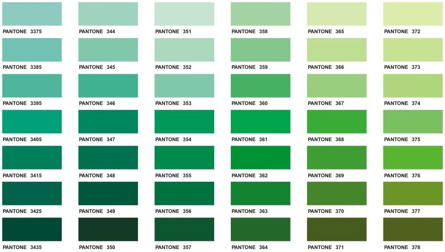 Teal Color Shades  Click On Each Color Block To See Larger Chart