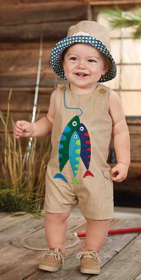 da0269686 A baby boys brown cotton romper is perfect for a warm summer s day ...