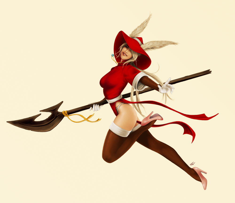 Viera Red Mage, inspired by Katsumiyo by MonsieurToad on DeviantArt