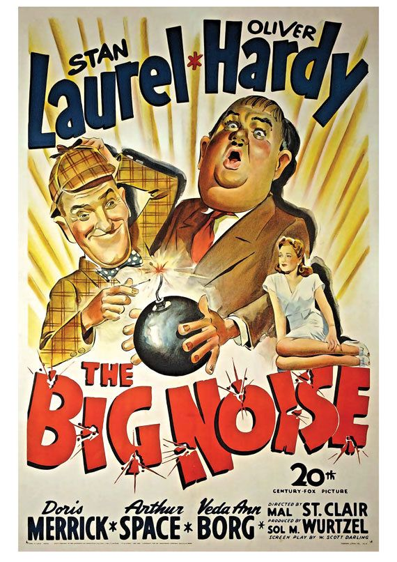 Vintage Film Movie Poster Laurel and Hardy The Big Noise Art ...