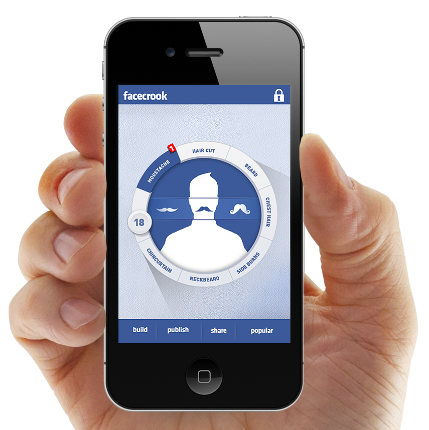 Facecrook. The nifty no profile avatar creator, iphone and