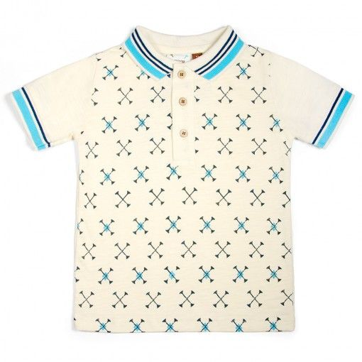 dfd80269 Golf tees everywhere on this perfect polo shirt for him to wear on Father's  Day. Check out the matching onesie for little brother!