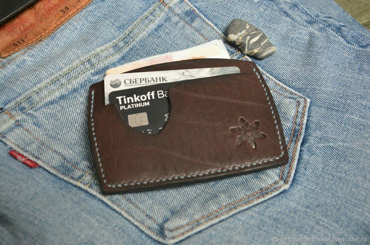 d86d6119d4cf Купить Картхолдер,мини кошелёк из кожи в интернет магазине на Ярмарке  Мастеров