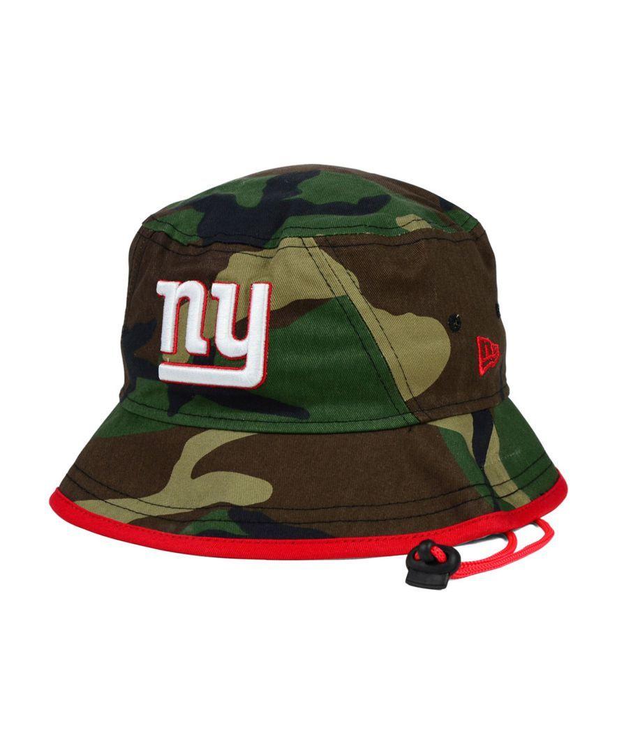 New Era New York Giants Camo Pop Bucket Hat  73c3340de97