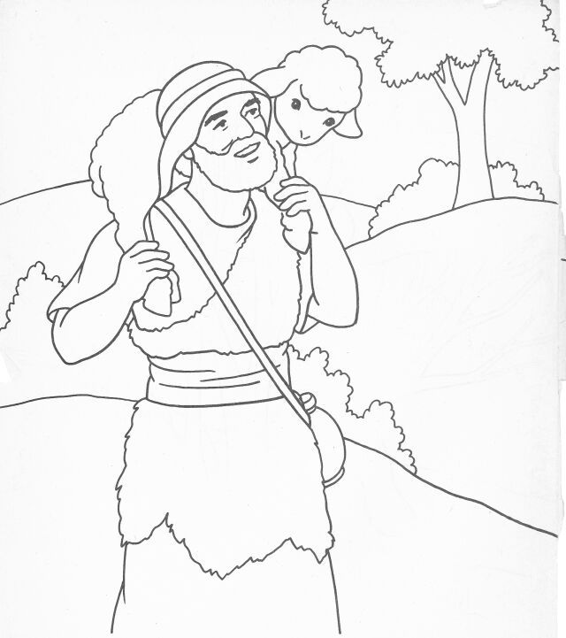 Jesus The Good Shepherd Colouring Pages Page 2 Sunday School