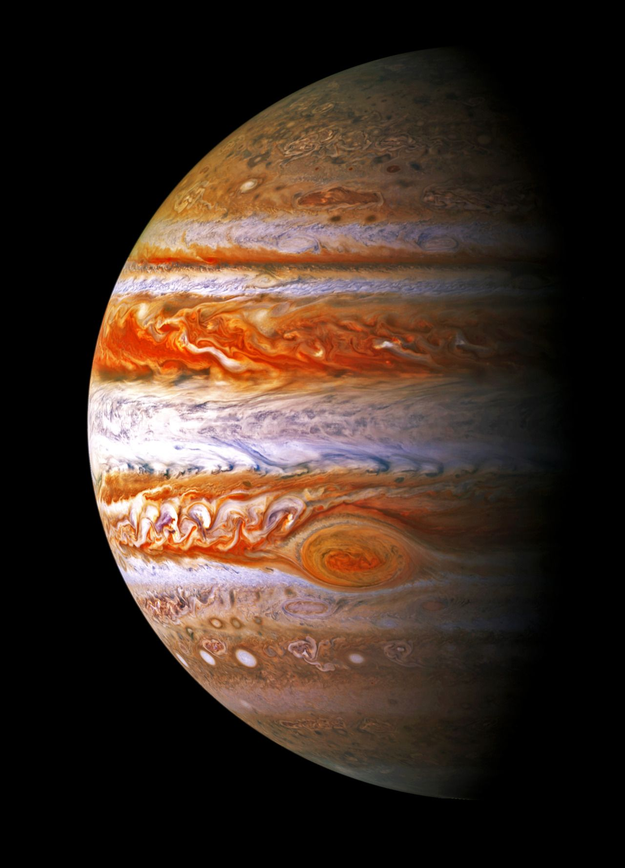Mass one-thousandth that of the Sun but is two and a half times the mass of all the other planets in our Solar System combined. #Jupiter is classified as a gas giant along with Saturn, Uranus and Neptune. Together, these four planets are sometimes referred to as the Jovian or outer planets.