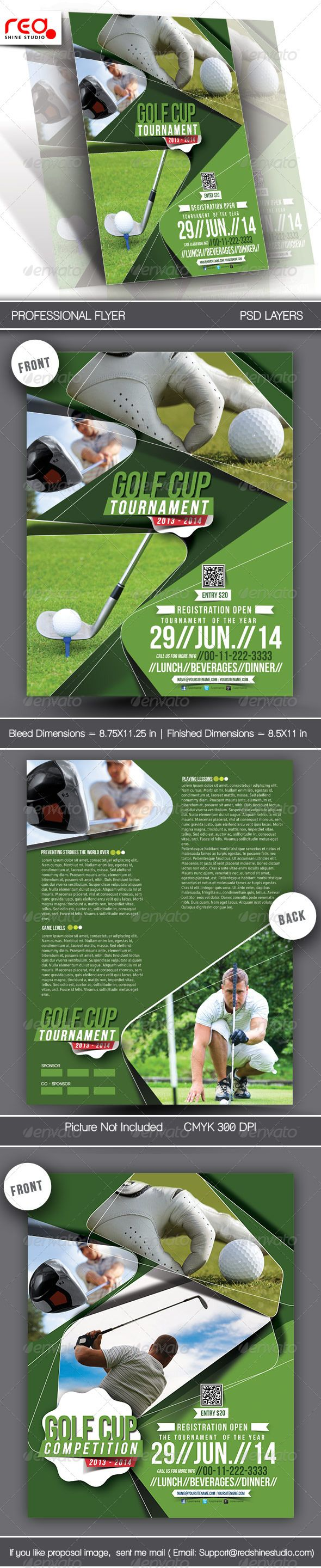 Golf Tournament Flyer  Poster Template  Template Flyer Template