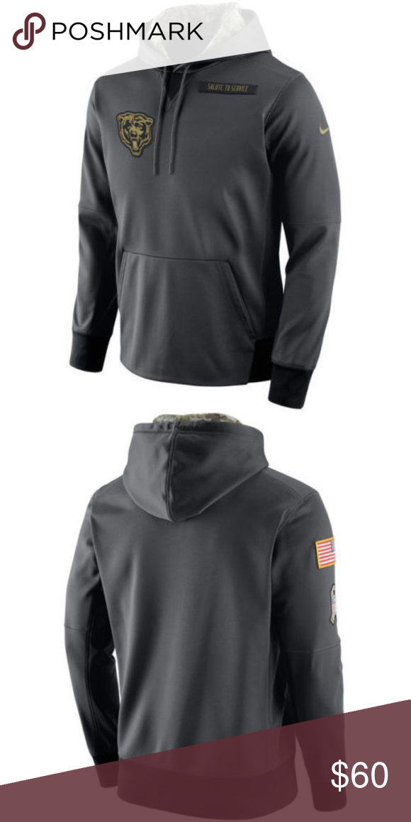 sale retailer ed98a 14d31 Nike Chicago Bears Salute to Service Sweatshirt Nike Chicago ...