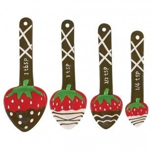 WANT! Although I Have Four Different Sets Of Measuring Spoons, I Donu0027t.  Chocolate Dipped StrawberriesStrawberry KitchenMeasuring ...