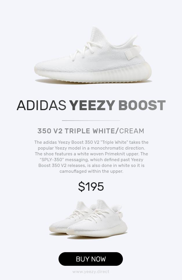 yeezy triple white price