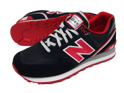 new balance 574 red black